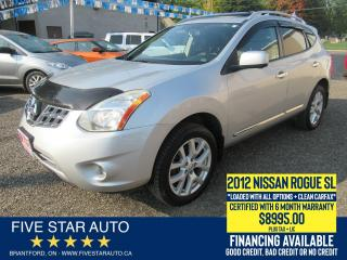 Used 2012 Nissan Rogue SL AWD *Clean Carfax* Certified + 6 Month Warranty for sale in Brantford, ON