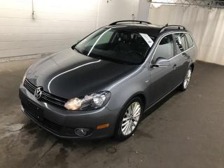 Used 2014 Volkswagen Golf Wagon TDI SPORTWAGON Wolfsburg NAVI CUIR TOIT PANO MAGS for sale in St-Eustache, QC