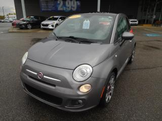 Used 2012 Fiat 500 HB,Sport,CUIR,TOIT,A/C,MAGS,FM,BAS KM,CRUISE,BLUET for sale in Mirabel, QC