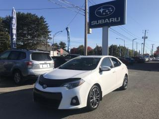 Used 2014 Toyota Corolla Berline 4 portes CVT **S** for sale in Victoriaville, QC