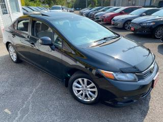 Used 2012 Honda Civic EX/ AUTO/ SUNROOF/ BLUETOOTH/ ALLOYS ++ for sale in Scarborough, ON