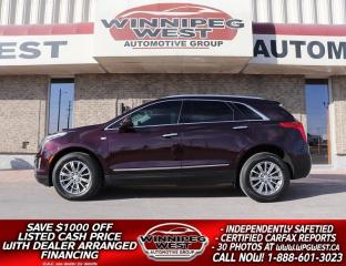Used 2018 Cadillac XT5 LUXURY AWD, PAN ROOF, LANE DEPART, BLIND SPOT! for sale in Headingley, MB