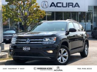 Used 2018 Volkswagen Atlas 2.0 TSI Comfortline for sale in Markham, ON