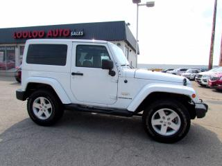 Used 2013 Jeep Wrangler Sahara 4WD 6SPD Manual Navigation Bluetooth A/C Certified for sale in Milton, ON