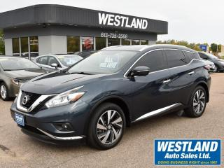 Used 2015 Nissan Murano Platinum for sale in Pembroke, ON