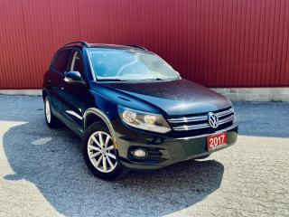 Used 2017 Volkswagen Tiguan Wolfsburg Edition, LEATHER, B-CAM, PANORAMIC ROOF! LEATHER, BACKUP-CAMERA, PANORAMIC ROOF for sale in Scarborough, ON