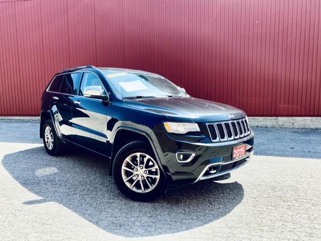 2015 Jeep Grand Cherokee Overland 4WD, DIESEL, NAVI, LEATHER, B-CAM, PANORAMIC ROOF LOADED! NAVI, PANO-ROOF