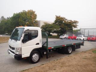 Used 2012 Mitsubishi FUSO FE 160 Flat Deck 16 Foot Diesel for sale in Burnaby, BC