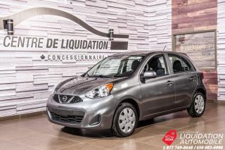 Used 2017 Nissan Micra S+GR/ELECT+BLUETOOTH+AIR for sale in Laval, QC