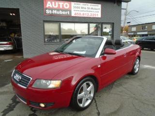 Used 2004 Audi A4 CONVERTIBLE 3.0L QUATTRO ** TRÈS PROPRE for sale in St-Hubert, QC