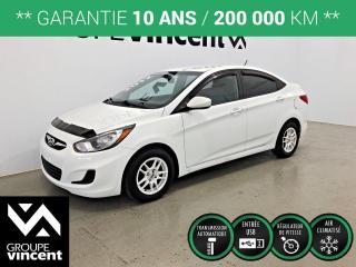 Used 2012 Hyundai Accent GL CLIMATISEUR ** GARANTIE 10 ANS ** Fiable et économique! for sale in Shawinigan, QC