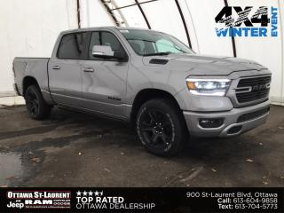 New 2021 RAM 1500 Sport SPORT CREW CAB 4X4 | ADVANCED SAFETY, BED UTILITY, LEATHER & SOUND & LEVEL 2 EQUPMENT GROUPS for sale in Ottawa, ON