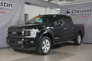 Used 2018 Ford F-150 PLATINUM POWERSTROKE DIESEL SUNROOF NAVI STEPS for sale in Montréal, QC
