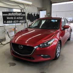 Used 2017 Mazda MAZDA3 4dr HB Sport Man GX 6 VIT.  $50.35/sem.+taxes for sale in St-Raymond, QC