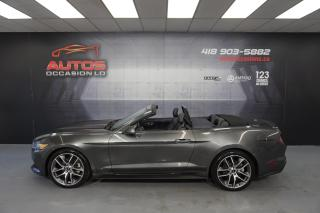 Used 2015 Ford Mustang CONVERTIBLE ECOBOOST PREMIUM CUIR GPS NAV 54 706 for sale in Lévis, QC