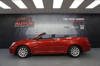Used 2010 Chrysler Sebring CONVERTIBLE TOURING V6 AUTO 65 160 KM CERTIFIÉ ! for sale in Lévis, QC