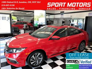 Used 2019 Honda Civic EX+Lane Keep+Camera+Apple Play+Roof+Accident Free for sale in London, ON