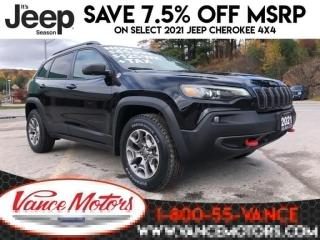 New 2021 Jeep Cherokee Trailhawk Elite 4X4...LEATHER* SUNROOF* BACKUP CAM for sale in Bancroft, ON
