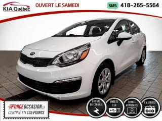 Used 2017 Kia Rio LX* 13593 KM* GROUPE ELECTRIQUE* for sale in Québec, QC