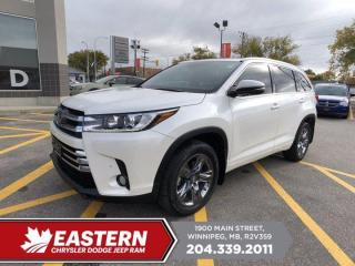 Used 2018 Toyota Highlander Limited | 1 Owner | No Accidents | for sale in Winnipeg, MB