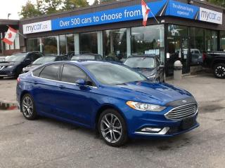 Used 2017 Ford Fusion LEATHER, NAV, HEATED SEATS, ALLOYS, BACKUP CAM!! for sale in Richmond, ON