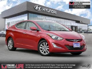Used 2015 Hyundai Elantra GLS  - Sunroof -  Navigation - $92 B/W for sale in Nepean, ON