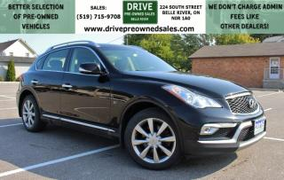 Used 2016 Infiniti QX50 AWD Sun Roof Heated Leather Bluetooth Backup Cam | NO ACCIDENTS for sale in Belle River, ON