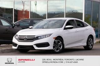 Used 2016 Honda Civic LX AUTO BLUETOOTH AC*AUTO*CAMERA*BLUETOOTH*CRUISE*SIEGES CHAUFFANTS*++ for sale in Lachine, QC