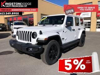 New 2021 Jeep Wrangler Unlimited Sahara Altitude | Dual Tops | Leather | for sale in Kingston, ON