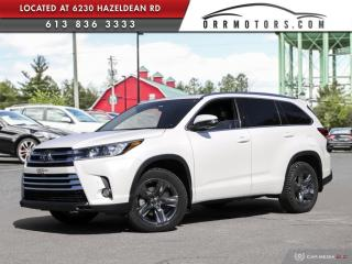 Used 2017 Toyota Highlander Limited LOW KMS | LTD MODEL! for sale in Stittsville, ON