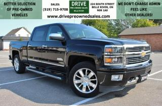 Used 2014 Chevrolet Silverado 1500 High Country Low K's 4x4 Heated Leather Bluetooth OnStar Backup Cam for sale in Belle River, ON