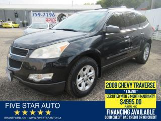 Used 2009 Chevrolet Traverse LS *8 SEATER* Certified w/ 6 Month Warranty for sale in Brantford, ON