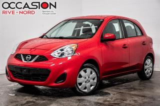 Used 2015 Nissan Micra S BLUETOOTH+A/C for sale in Boisbriand, QC