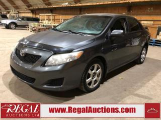 Used 2009 Toyota Corolla CE 4D Sedan FWD for sale in Calgary, AB