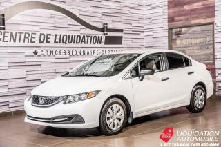 Used 2014 Honda Civic DX+GR. ELECTRIQUE for sale in Laval, QC