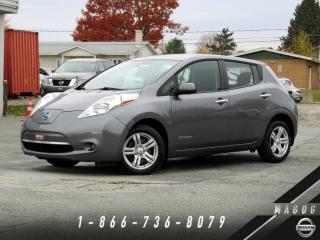 Used 2016 Nissan Leaf S + 24 KWH + CHARGE RAPIDE + CAMÉRA + MA for sale in Magog, QC