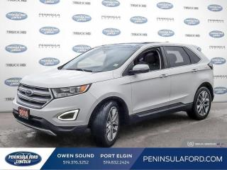 Used 2018 Ford Edge Titanium - Leather Seats -  Bluetooth - $202 B/W for sale in Port Elgin, ON