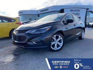Used 2017 Chevrolet Cruze Premier FWD | Heated Seats & Steering Wheel for sale in Winnipeg, MB