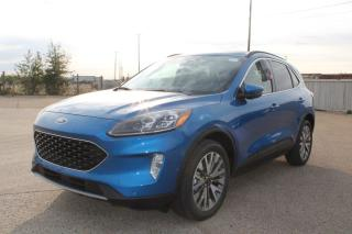 New 2020 Ford Escape Titanium Hybrid 400A, AWD, 2.5L I-VCT HYB, Power Heated Seats, Heated Steering Wheel, Lane Keeping System, Pre-Collision Assist, Remote Keyless Entry/Keypad, Remote Vehicle Start, Reverse Camera/Sensi for sale in Edmonton, AB