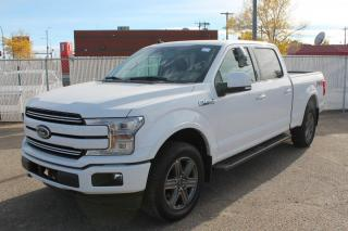 New 2020 Ford F-150 Lariat 502A, 4X4 Supercrew, 5.0L V8, Auto Start/Stop, Heated Seats, Heated Steering Wheel, Lane Keeping System, Pre-Collision Assist, Rear View Camera, Remote Keyless Entry/Keypad, Trailer Tow Package for sale in Edmonton, AB