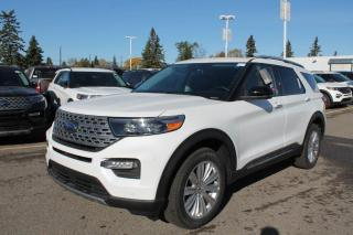 New 2020 Ford Explorer Limited 310A, 4WD, 3.3L Hybrid, Power Heated/Cooled Seats, Heated Steering Wheel, Forward and Reverse Sensing System, Lane Keeping System, Pre-Collision Assist, Remote Keyless Entry, Remote Vehicle St for sale in Edmonton, AB