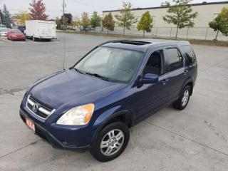 Used 2004 Honda CR-V EX-L. 4WD, Leather, Sunroof, 3/Y warranty availa for sale in Toronto, ON