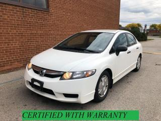 Used 2010 Honda Civic DX-G, Automatic, 222 km/SAFETY& WARRANTY for sale in Oakville, ON