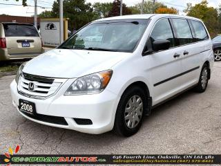 Used 2008 Honda Odyssey DX|LOW KM|NO ACCIDENT|SINGLE OWNER|CERTIFIED for sale in Oakville, ON