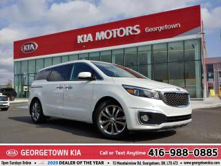 Used 2018 Kia Sedona SXL | LTHR | ROOF | BU CAM | HTD/COOLD SEATS | B/T for sale in Georgetown, ON
