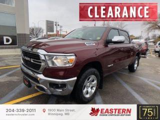 New 2021 RAM 1500 Big Horn | Backup Cam | Rear Window | 0% Fin. | for sale in Winnipeg, MB