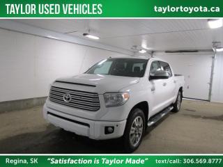 Used 2017 Toyota Tundra Platinum 5.7L V8 for sale in Regina, SK