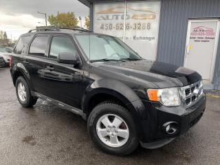 Used 2012 Ford Escape ***XLT,4X4,PNEUS NEUF,BAS KILO,4 CYL*** for sale in Longueuil, QC