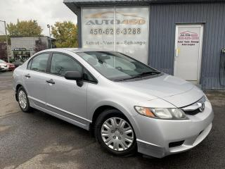 Used 2010 Honda Civic ***DX,GROUPES ELECTRIQUE,A/C*** for sale in Longueuil, QC