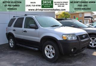 Used 2006 Ford Escape XLT 3L 4x4 Cruise Control Roof Rack for sale in Belle River, ON
